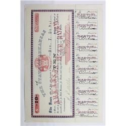 1861 $10 CONFEDERATE CIVIL WAR BOND