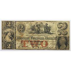 1857 $2 MOUNT VERNON BANK