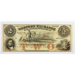 1857 $2 WESTERN EXCHANGE