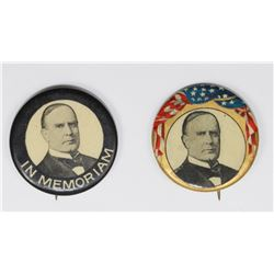 2 VINTAGE MCKINLEY POLITICAL BUTTONS