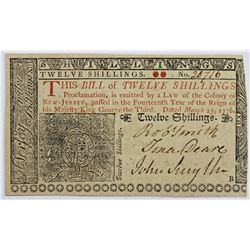 3-25-1776 NEW JERSEY 12 SHILLINGS