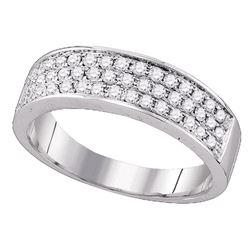 Diamond Band Ring 1/2 Cttw 10kt White Gold