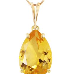 Genuine 5 ctw Citrine Necklace 14KT Yellow Gold - REF-30X3M