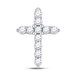 Diamond Classic Cross Pendant 1/10 Cttw 10kt White Gold