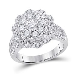 Diamond Right Hand Cluster Ring 1-5/8 Cttw 14kt White Gold