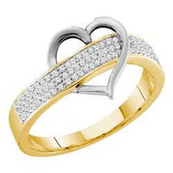 Diamond Heart Band 1/6 Cttw 10kt Yellow Gold