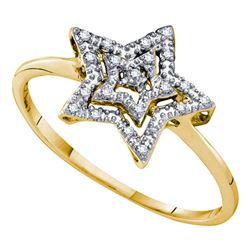 Diamond Star Ring 1/20 Cttw 10kt Yellow Gold