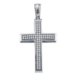 Diamond Cross Religious Pendant 1/4 Cttw 10kt White Gold