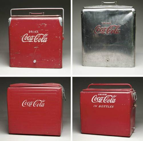 LOT OF FOUR COCA-COLA COOLERS