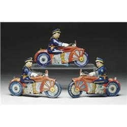 LOT OF 3 TIN WIND-UP MOTORCYCLES