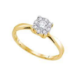 Diamond Solitaire Bridal Wedding Engagement Ring 1/4 Cttw 10kt Yellow Gold