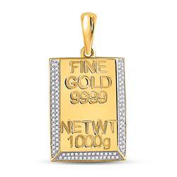 Bar Charm Pendant 3/8 Cttw 10kt Yellow Gold