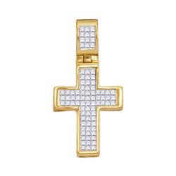 Diamond Roman Cross Religious Pendant 5/8 Cttw 10kt Yellow Gold