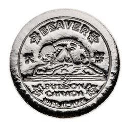 .999 Fine Silver 5oz Beaver Round - Hand Poured, C