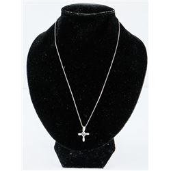 925 Silver Cross Pendant and Box Chain