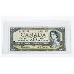 Bank of Canada 1954 20.00 Devil's Face. (VF)