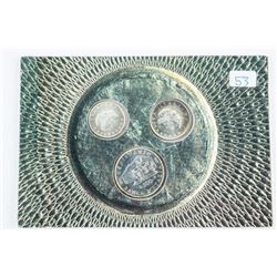 Italy 3 Silver Coins: L100, L200, L500