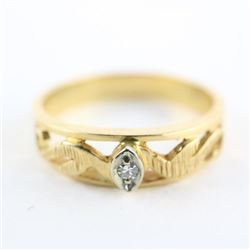 Estate 10kt Gold Diamond Band Ring Size 9.5 3.60gr