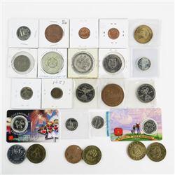 Estate Lot (25) Mixed Coins, Medals etc