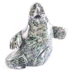Estate - Inuit Carving 'Walrus' Hand Signed, Sculp