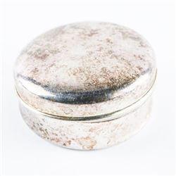 Estate 925 Silver pill Box