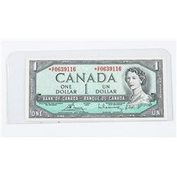 Bank of Canada 1954 1.00 Modified Portrait * Repla