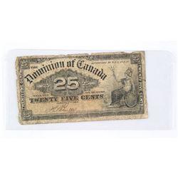 Dominion of Canada 1900 25 cents Boville
