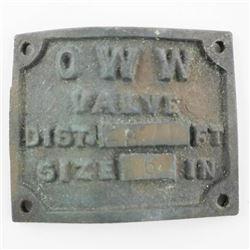 OWW Valve Plate