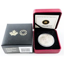 2013 $15.00 Maple of Peace Pure Silver Coin (AG)