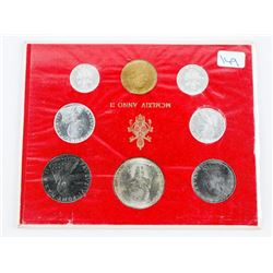 Vatican - Italy 8 Coin Set with Silver