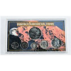 Vintage American Coins 6 Coin Set