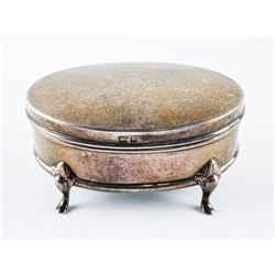 Estate 925 Sterling Silver Oval Footed Box 66 gram