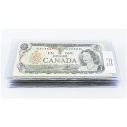 Group of (25) Bank of Canada 1973 1.00 Circulated