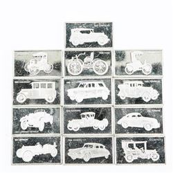 Lot (13) 925 Silver Car Ingots