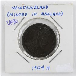 NFLD 1904H Large One Cent VF30 'Minted in England'