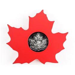 RCM 2015 9.9 Fine Silver $20.00 Maple Leaf with Di