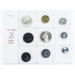 La Zecca Roma 1970 Coin Set in Silver