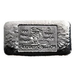.999 Fine Silver 5oz Beaver Cube - Canada Sourced,
