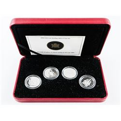 2004 50 Cent 925 Sterling Silver 4 Coin Set with C
