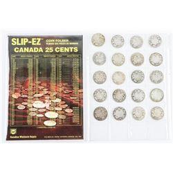 Estate Collection (20) Canada Silver 25 Cent - Vic