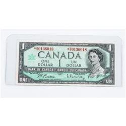 Bank of Canada 1967 1.00 Modified Portrait * Repla