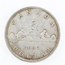 Estate 1947 Maple Leaf Silver Dollar