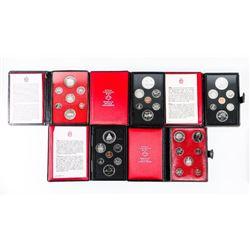 Group of (5) RCM Prestige Coin Sets, Leather Case.