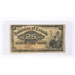 Dominion of Canada 1923 25 cents 2 Signature Sets