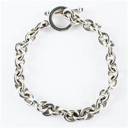 Estate 925 Silver Link Bracelet