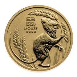 Lunar Mouse Round - .999 Fine Gold. 1oz. Collector
