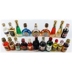 Grouping (20) Mini Bar Bottles with Contents