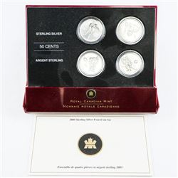 925 Sterling Silver 4 Coin Set 'Montreal' 50 Cent