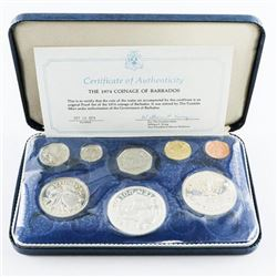 1974 Coinage of Barbados with Silver