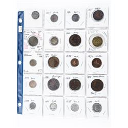 Group of (20) World Coins : Switzerland, Sweden, P